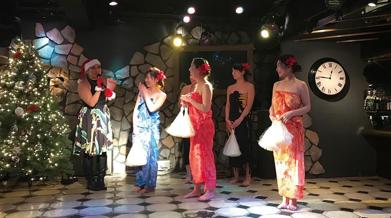 タヒチアンダンス初級クラスの発表